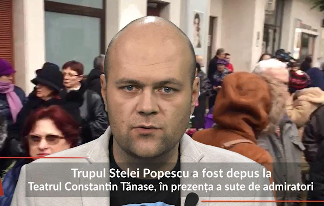 Trupul neînsufleţit al Stelei Popescu, depus la Teatrul Constantin Tănase