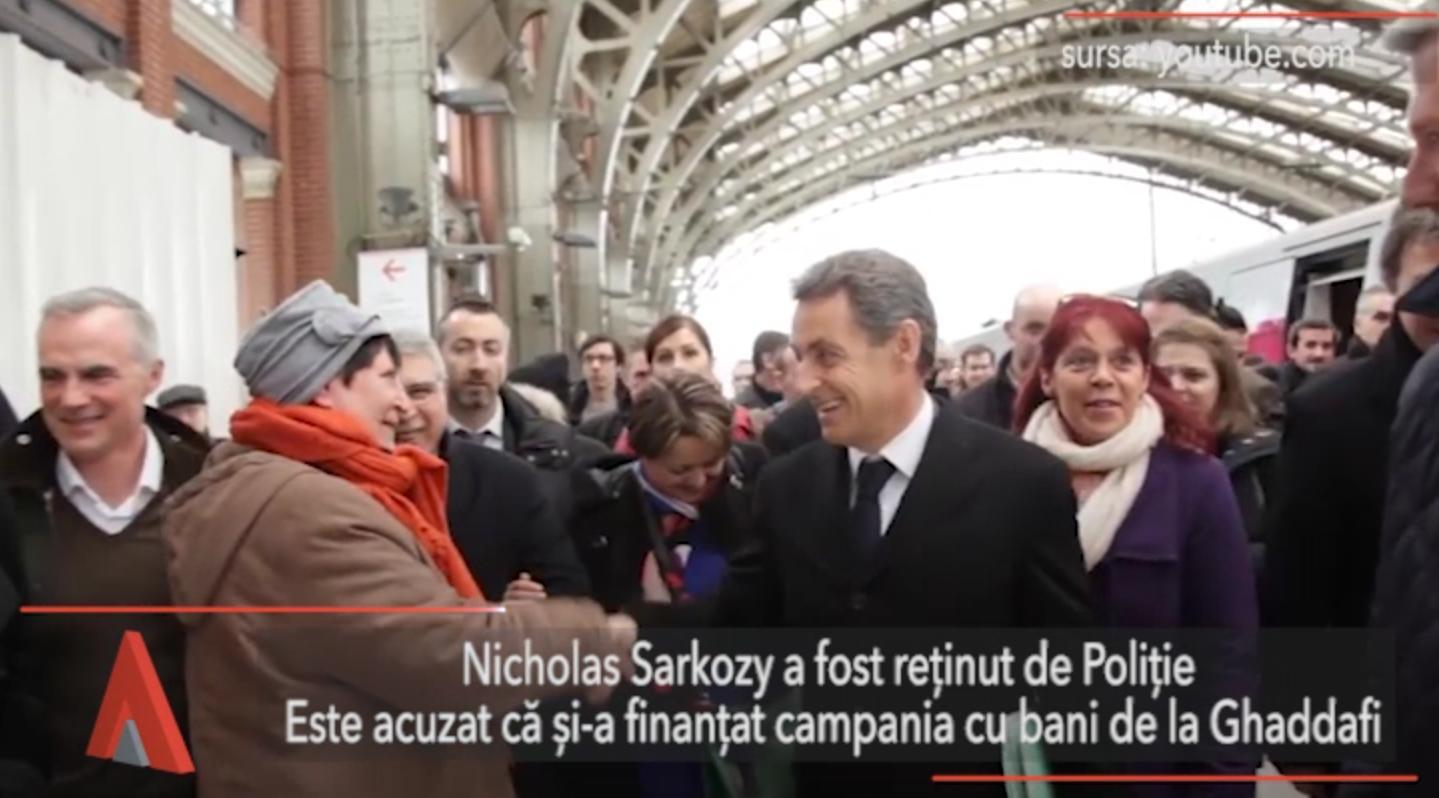 Nicolas Sarkozy, reţinut într-un dosar care vizează campania prezidenţială din 2007