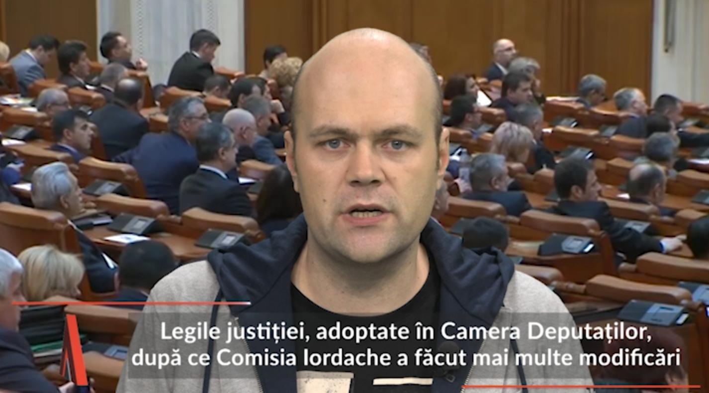 Camera Deputaţilor a adoptat legile justiţiei. USR a protestat în plen