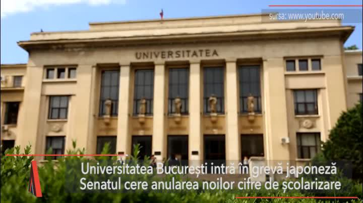 Universitatea Bucureşti intră în grevă japoneză. Senatul cere anularea noilor cifre de şcolarizare