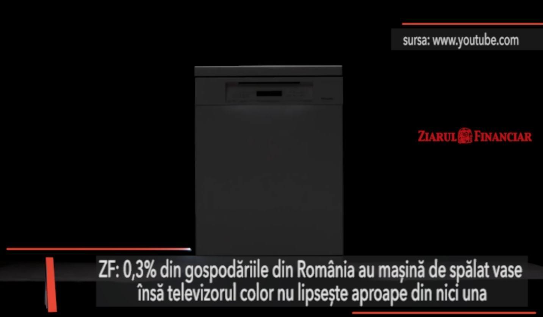 """Ţara contrastelor: Românii nu au maşini de spălat vase, dar sunt """"campioni"""" la televizoare color"""