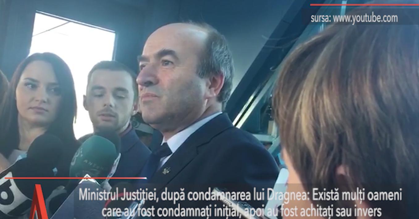 Tudorel Toader, prima reacţie după CONDAMNAREA cu EXECUTARE a lui Liviu Dragnea