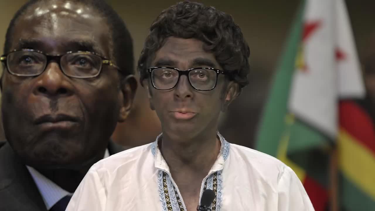 Găinuşă şi Robert Mugabe Junior