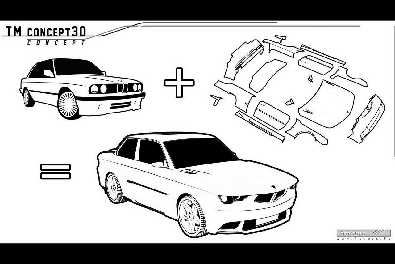 Kit de TUNING SF pentru BMW E30 de la TM Cars!