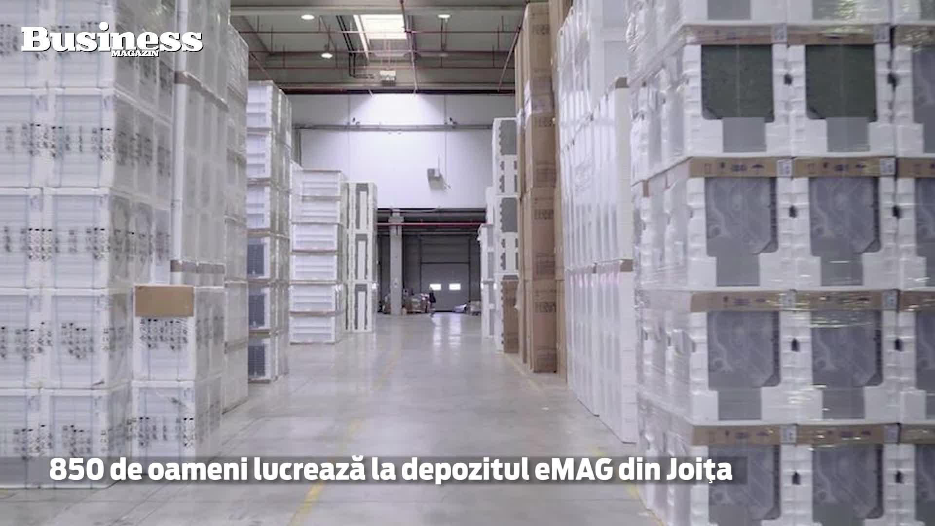 Cel de-al doilea depozit eMAG, construit în Joiţa, Giurgiu este cel mai mare din sud-estul Europei - VIDEO