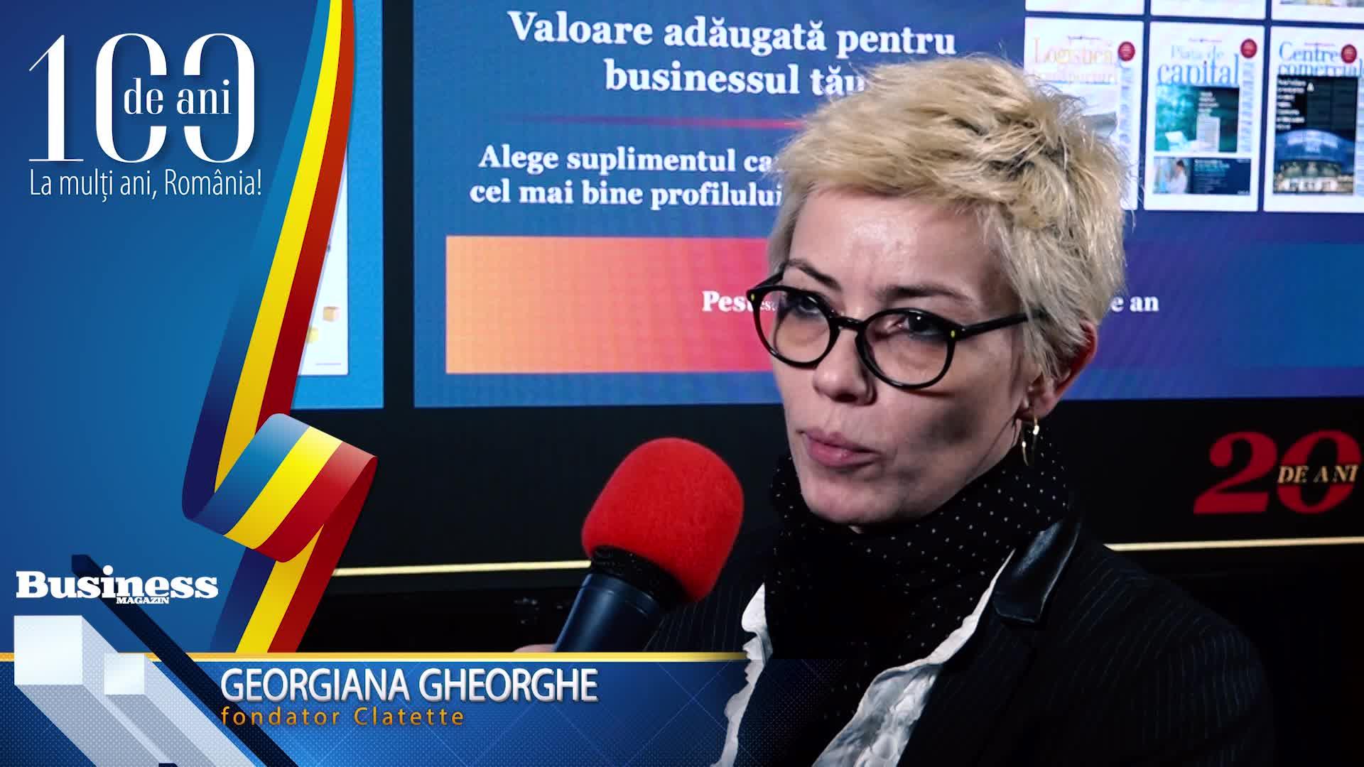 """Georgiana Gheorghe, fondator Clatette: """"Pentru cine este curajos şi ambiţios există o şansă aici!"""" - VIDEO"""