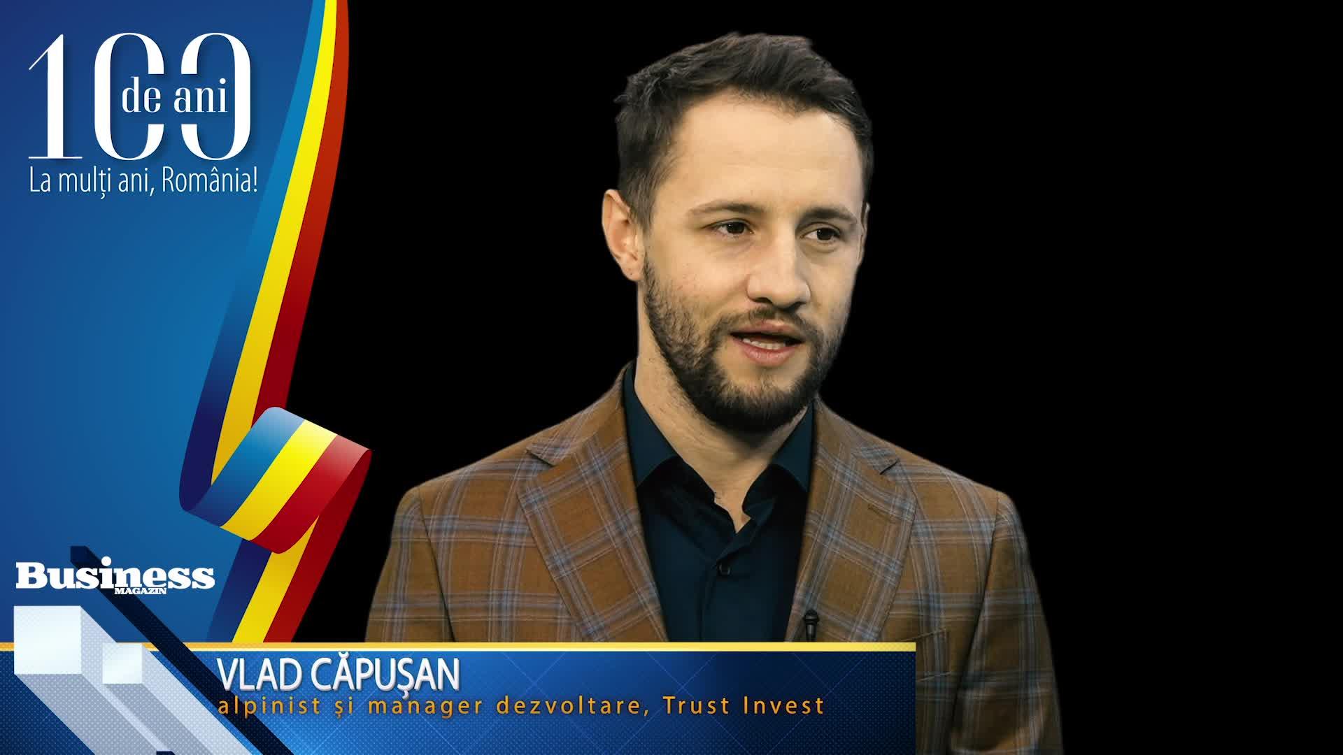 """Vlad Căpuşan, alpinist şi manager dezvoltare, Trust Invest: """"M-am întors pentru potenţialul enorm pe care l-am văzut în ţara noastră!"""" - VIDEO"""