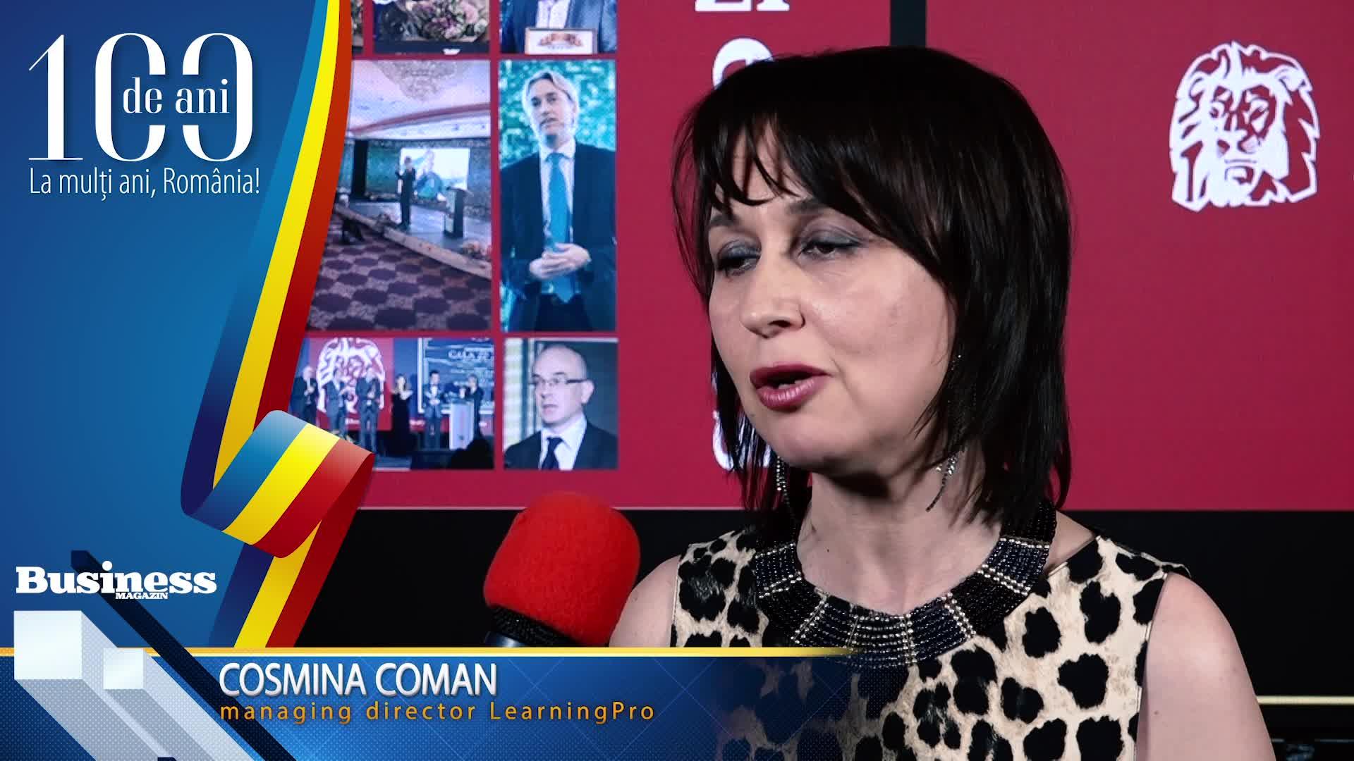 """Cosmina Coman, managing director LearningPro: """"Aici ai potenţialul de a face lucruri şi de a mişca lucruri care îţi aduc satisfacţie!"""" - VIDEO"""