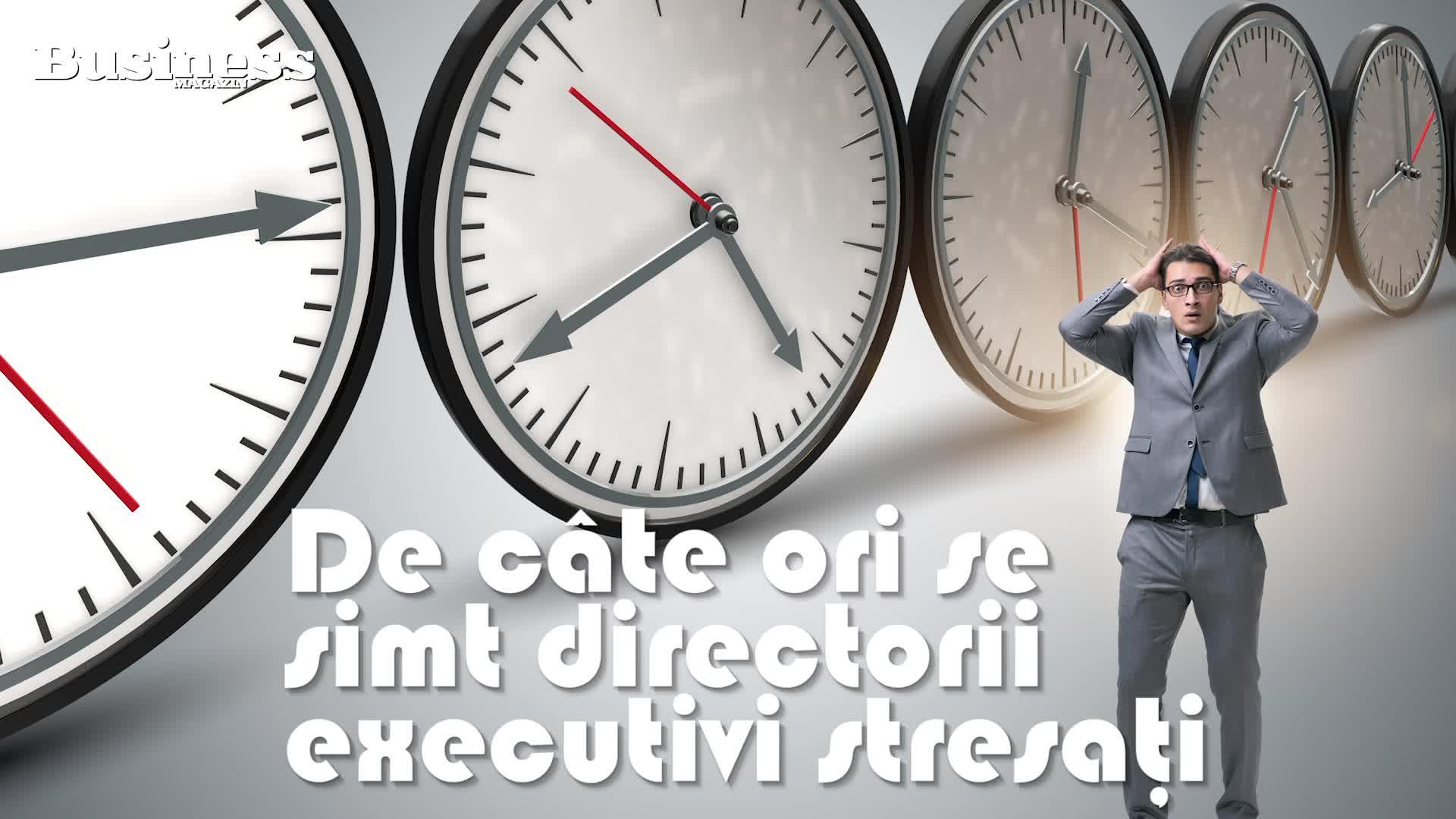 De cate ori se simt directorii executivi stresaţi - VIDEO